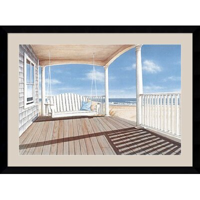 "Amanti Art The Porch Swing by Daniel Pollera Framed Fine Art Print - 31.87"" x 42.62"""