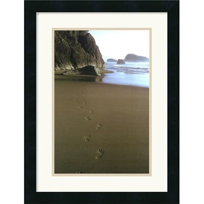 Ocean Footprints by Ruth Burke Framed Art Print - 21