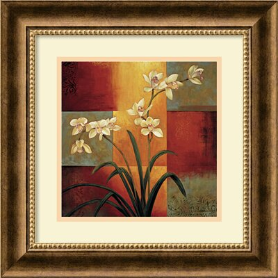 "Amanti Art White Orchid by Jill Deveraux, Framed Print Art - 16.65"" x 16.72"""