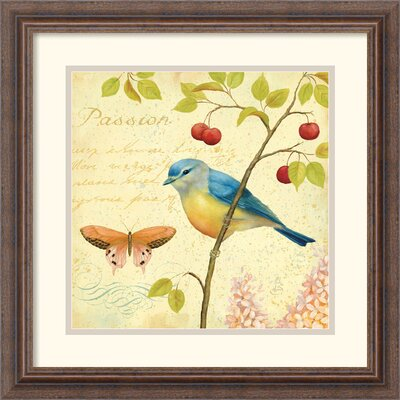 Garden Passion IV Framed Print by Daphne Brissonnet