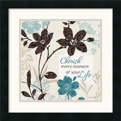 Botanical Touch Quote I Framed Print by Lisa Audit