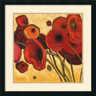 Poppies Wildly I Framed Print by Shirley Novak