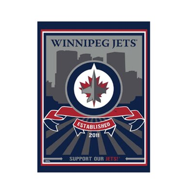 Artissimo Designs Winnipeg Jets Logo Canvas Art