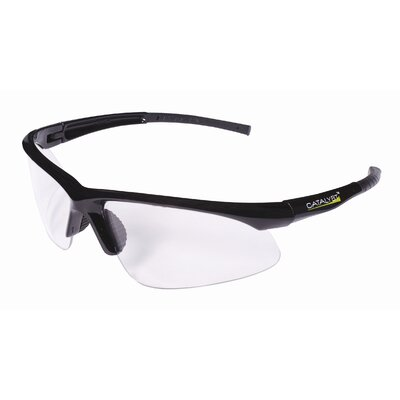 Catalyst Dual Wrap-Around Safety Glasses with Clear Anti-Fog Lens