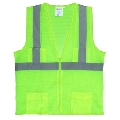 Hi Vis Reflective Safety Vest in Lime Green (Class 2) - 4XL