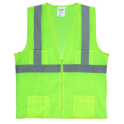 Hi Vis Reflective Safety Vest in Lime Green (Class2) - Extra Large