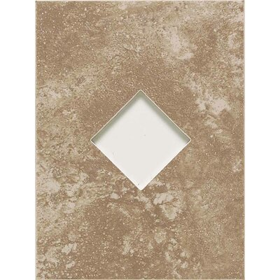 "American Olean Ash Creek 12"" x 9"" Glazed Wall Tile Accent with Diamond Cutout in Walnut"