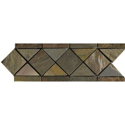 Emser Tile Natural Stone 4&quot; x 11&quot; Slate Border #14 Listello