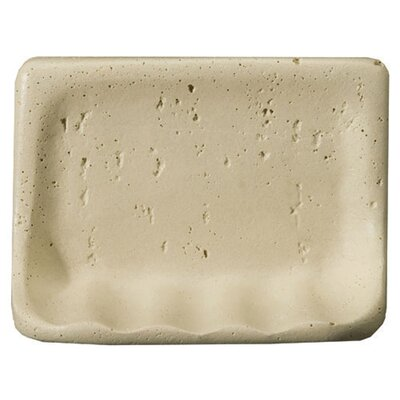 "Emser Tile Villa Romansa 5"" x 8"" Travertine Soap Dish"