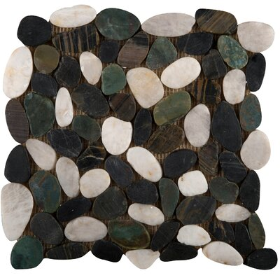 "Emser Tile Rivera 12"" x 12"" Flat Pebble Mosaic in Spring"