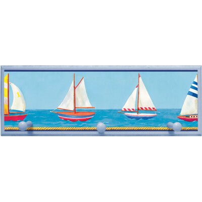 Illumalite Designs Sailboats Wall Plaque with Wooden Pegs