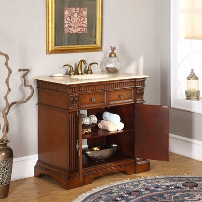 "Silkroad Exclusive Carroll 36"" Single Bathroom Vanity Set"