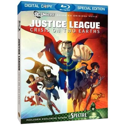Super D Justice League - Crisis On Two Earths Blu-Ray