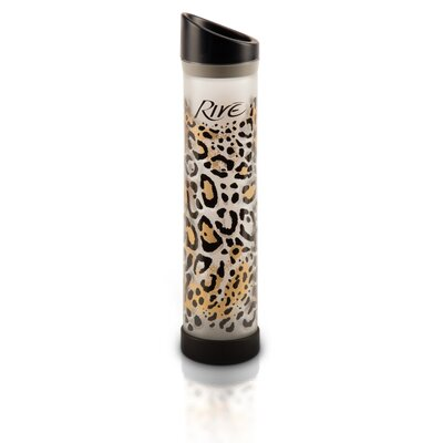 Rive Savoy 16 Oz Leopard Glass Water Bottle