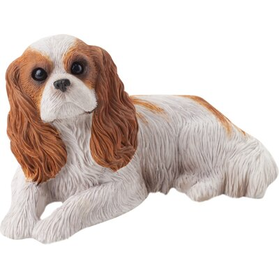Sandicast Small Size Cavalier King Charles Spaniel Sculpture