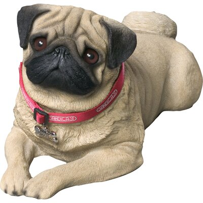 Life Size Pug Sculpture in Fawn