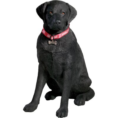 Sandicast Life Size Large Labrador Retriever Sculpture in Black