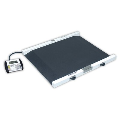 Detecto Portable Painted Steel Bariatric Wheelchair Scale