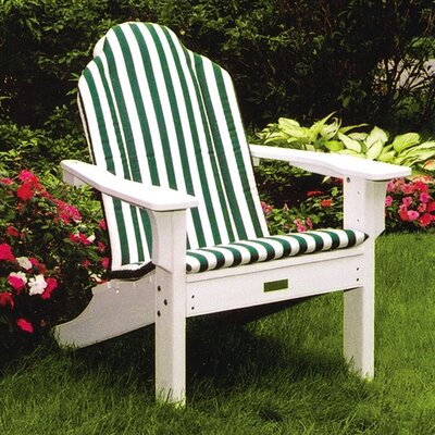 Seaside Casual Adirondack Shell Back Chair Cushion