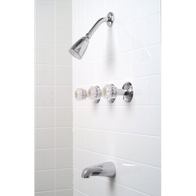 Premier Faucet Concord Three-Handle Volume Control Tub and Shower Faucet