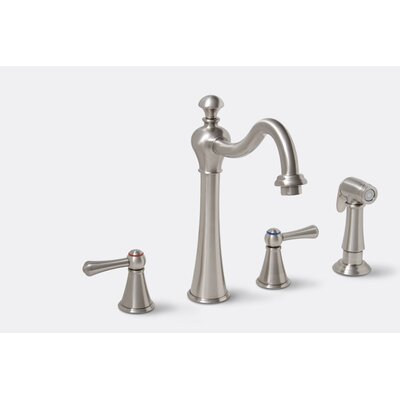 Premier Faucet Sonoma Two Handle Widespread Kitchen Faucet with Matching Side Spray