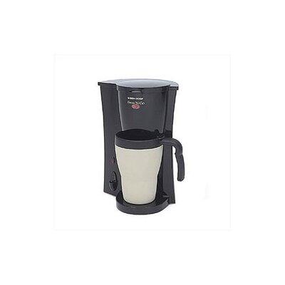 Black And Decker Coffee Maker Mug : Black & Decker Brew N Go Deluxe Coffee Maker with Plastic Mug & Reviews Wayfair