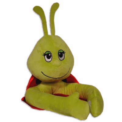 Curtain Critters Plush Green and Red Ladybug Curtain Tieback