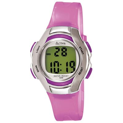 Activa Watches Women's Digital Multi-Function Watch in Lilac Transparent