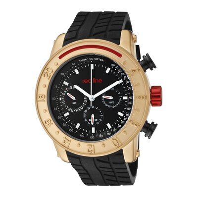 Red Line Men's Tread Silicone Round Watch