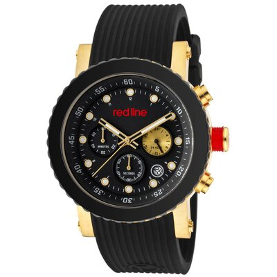 Red Line Men's Compressor Chronograph Silicone Round Watch