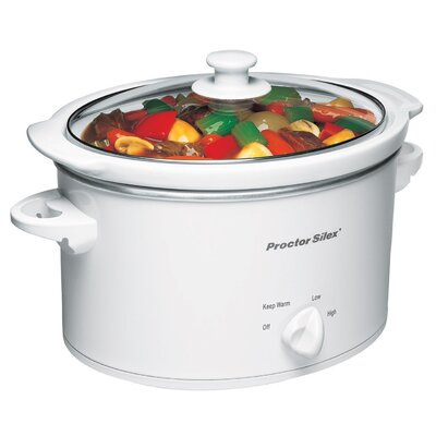 Hamilton Beach 3 Quart Slow Cooker in White
