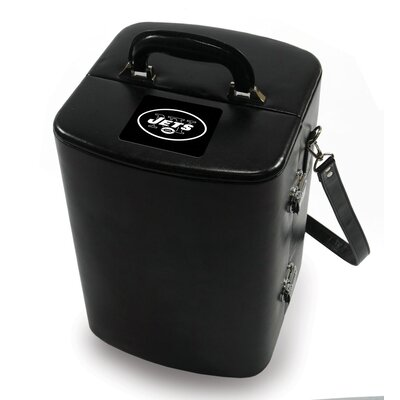 Picnic Time NFL Manhattan Engraved Cocktail Case in Black