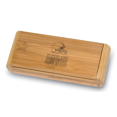 Picnic Time NFL Elan Bamboo Engraved Corkscrew in a Box