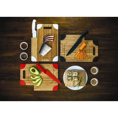 Picnic Time Culina Cutting Board with Knife