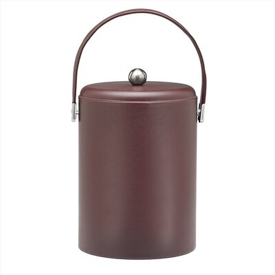 Soho 5 Qt Leatherette Ice Bucket in Claret