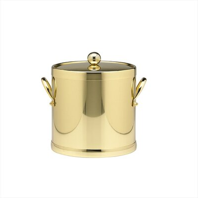 Americano 3 Qt Ice Bucket with Side Handle in Brass