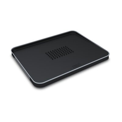 Joseph Joseph Large Cut and Carve Chopping Board in Black