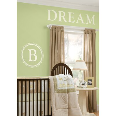 WallPops! Sheets Durham Ivory White Monogram and Alphabet Decal Set