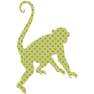 WallPops! ZooWallogy Antoinne The Monkey Decal