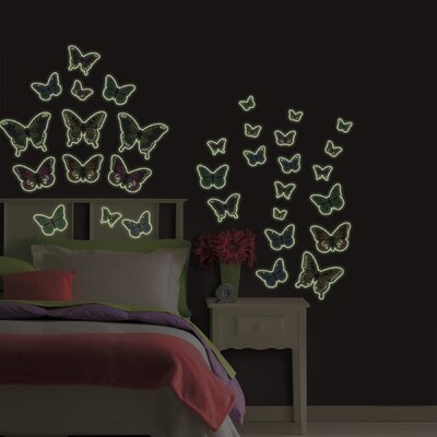 WallPops! Butterflies Glow in the Dark Wall Art Kit
