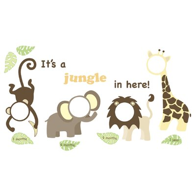 WallPops! Jungle and Friends Photo Frame