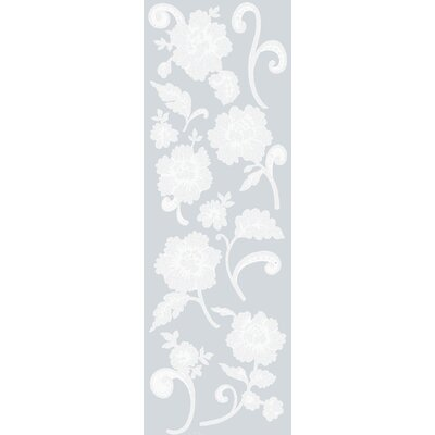 Peony Etched Glass Decals