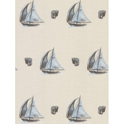 Brewster Home Fashions Destinations by the Shore Linen Boat Wallpaper