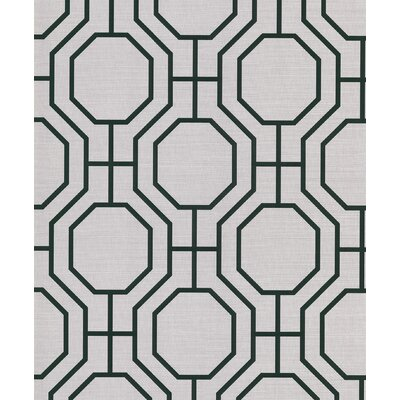 Brewster Home Fashions Ink Octagon Wallpaper