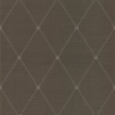 Joseph Abboud Designed Diamond Harlequin Wallpaper in Café Brown