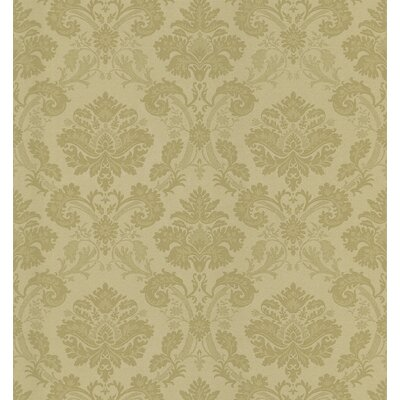 Mirage Signature V Fabric Damask Wallpaper in Old Gold