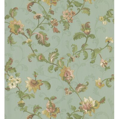 Brewster Home Fashions Mirage Signature V Chintz Wallpaper in Serene Sage