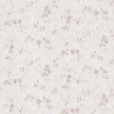 Satin Rose Tonal Floral Trail Wallpaper