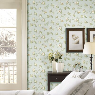 Satin Rose Magnolia Trail Wallpaper