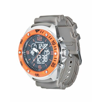Freestyle Active Precision 2.0 Watch in Taupe / Orange